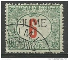 Fiume - 1918 Postage Due 6f Used    Mi P7  Sc J7 - 8. WW I Occupation