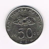 &  MALAYSIA  50  SEN 2005 - Malaysie
