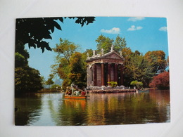 Postcard Postal Italy Roma Villa Borghese Il Laghetto - Parks & Gardens