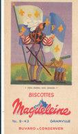 BU 1678  /  BUVARD     BISCOTTES MAGDELEINE   - PORTE DRAPEAU SOUS FRANCOIS 1 Er   N°2 - Biscotti