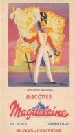 BU 1679  /  BUVARD     BISCOTTES MAGDELEINE   - PORTE DRAPEAU  RESTAURATION   N°7 - Biscotti