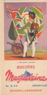 BU 1680  /  BUVARD     BISCOTTES MAGDELEINE   - PORTE DRAPEAU   BONAPARTE   N°6 - Biscotti