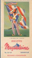 BU 1681  /  BUVARD     BISCOTTES MAGDELEINE   - PORTE DRAPEAU   SOUS LA REVOLUTION   N°8 - Biscotti