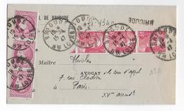 1947 - GANDON + MAZELIN - ENVELOPPE Avec RECOMMANDE PROVISOIRE De BRIOUDE (HAUTE LOIRE) => PARIS - Poststempel (Briefe)