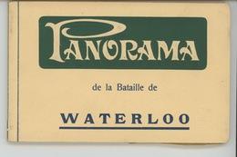 """CELEBRITES - NAPOLEON - Carnet Complet De 12 CPA """"Panorama De La Bataille De WATERLOO """" - Personnages Historiques"""