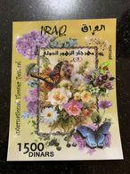 IRAQ 2019 MNH Iraqi Festival Flowers Flora Fauna Holographic Butterflies SS Ltd - Iraq