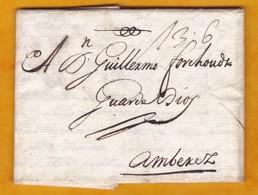 1697 (Carlos II) - Carta Personal De 2 Pajinas De Cadiz, Espana A Amberes/Antwerp/Anvers, Paises Bajos Espanoles - ...-1850 Prefilatelia