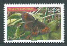 Año 2014 Nº 758 Fauna Mariposas - French Andorra