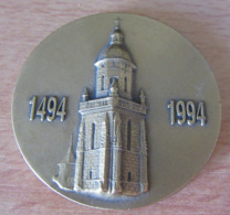 Médaille De La Ville Du Croisic (Loire-Atlantique) Pour Les 500 Ans De L'Eglise Notre-Dame De Pitié - Datée 1994 - Professionnels / De Société