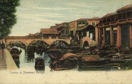 China, CANTON GUANGZHOU 廣州, Shameen Bridge (1910s) Postcard - China
