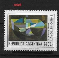 "ARGENTINA   1974 Argentine Paintings -""Homenaje A La Gruta Azul"" By Emilio Pettoruti  ** - Argentina"