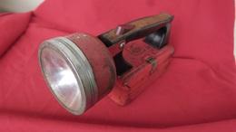 Grande Lampe De Poche Ancienne En Métal, Collection Mazda,vintage - Otros