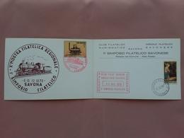 REPUBBLICA - Marcofilia - 1° Simposio Filatelico Savona + Spese Postali - 6. 1946-.. Repubblica