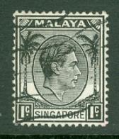 Singapore: 1948/52   KGVI   SG1    1c    [Perf: 14]    Used - Singapour (...-1959)