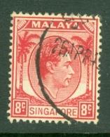 Singapore: 1948/52   KGVI   SG6    8c    [Perf: 14]    Used - Singapour (...-1959)