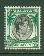 Singapore: 1948/52   KGVI   SG9    20c    [Perf: 14]    Used - Singapour (...-1959)