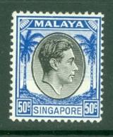 Singapore: 1948/52   KGVI   SG12    50c    [Perf: 14]    MH - Singapour (...-1959)