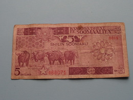 5 SHILIN - SOOMAALI > Muqdisho 1987 Central Bank Of Somalia D015 - 486071 ( For Grade, Please See Photo ) ! - Somalia