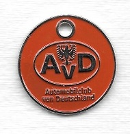 Jeton De Caddie  étranger  A V D  Automobilclub  Von  Deutschland  Recto  Verso - Einkaufswagen-Chips (EKW)