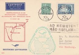 Finlandia, Volo Lufthansa Per Sud America  15/08/1956 - Airmail