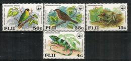 ILES FIDJI. Protection De La Faune Sauvage Des îles. WWF.Fiji Iguana, Fiji Tree Frog,etc. 4 Timbres Neufs ** - Fidji (1970-...)