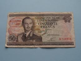 50 - Cinquante Francs - A 716955 - 25 Aout 1972 > Grand-Duché De Luxembourg ( For Grade, Please See Photo ) ! - Luxembourg