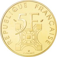 MONNAIE FRANCE France, Tour Eiffel, 5 Francs, 1989, OR PL  Paris,  RARE EDITION LIMITEE - Gold