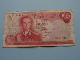 100 - Cent Francs - D 251632 - 15 Juillet 1970 > Grand-Duché De Luxembourg ( For Grade, Please See Photo ) ! - Luxembourg