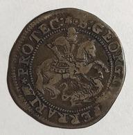 FERRARA  Alessandro VII 1655-1667 Giulio  Stemma A Targa  R/ San Giorgio A Cavallo A D. Trafigge Il Drago  D.289 - Emilia