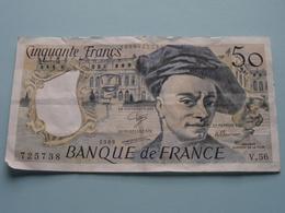 50 - Cinquante Francs - 725738 ( V.56 ) 1989 > Banque De France ( For Grade, Please See Photo ) ! - 50 F 1976-1992 ''Quentin De La Tour''
