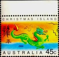 ZODIAC- CHINESE NEW YEAR OF DRAGON- CHRISTMAS ISLANDS-AUSTRALIA-2000- MNH- B9-779 - Chinees Nieuwjaar