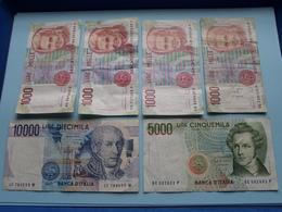 Lot Banca D'ITALIA > 10000 / 5000 / 4 X 1000 LIRE Mille ( VEDI Photo > Please See Photo ) ! - Unclassified