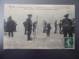 39  MOREZ  Concours Des 31 Janvier, 1, 2 Et 3 Février 1909  -  Course De Skis  -  Avant Le Départ ( Pendant La Rafale ) - Morez