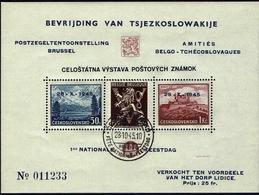 BELGIE Belgien -CSSR AS15** / Lidické Lidice / Belgie 1945 / Ceskoslovensk / Bratislava 1937 - Tschechoslowakei/CSSR