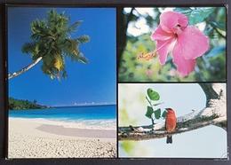 1991 Seychelles, Hibiscus, Madagascar Fody - Paris France, Used - Seychellen