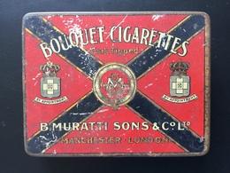 Boîte Métal Ancienne Bouquet Cigarettes B Muratti Sons - Etuis à Cigarettes Vides
