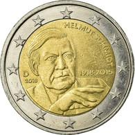 Allemagne, 2 Euro, Helmut Schmidt, 2018, TTB, Bi-Metallic - Allemagne