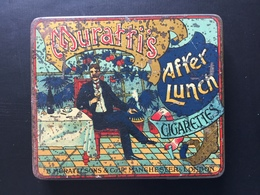 Boîte Métal Ancienne Cigarettes After Lunch Muratti - Etuis à Cigarettes Vides