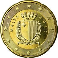 Malte, 20 Euro Cent, 2011, FDC, Laiton, KM:129 - Malta