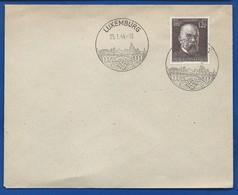 Enveloppe Ave Timbre à 12+38 Gross  Deutches Reich  Oblitération:  LUXEMBURG 25/1/1944 - Germany