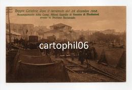 - CPA REGGIO CALABRIA (Italie) - Reggio Calabria Dopo Il Terremoto Del 28 Dicembre 1908 (belle Animation) - - Reggio Calabria
