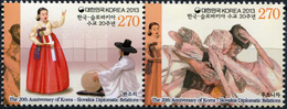 South Korea 2013. Korea - Slovakia Diplomatic Relations (MNH OG) Block - Korea, South