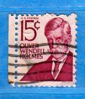 (Us2) USA °-1967-68 - Américains Célèbres- Olivier Wendell Holmes.  Yvert . 821  .  USED.  Vedi Descrizione - Stati Uniti