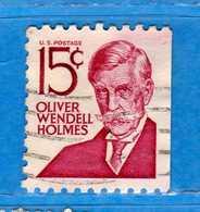 (Us2) USA °-1967-68 - Américains Célèbres- Olivier Wendell Holmes.  Yvert . 821b.   .  USED.  Vedi Descrizione - Stati Uniti