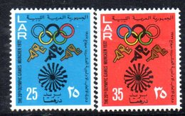 APR509 - LIBIA LYBIA 1972 , Serie Yvert  N. 456/457 *** (2380A)  Olimpiadi Monaco - Libia