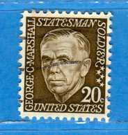 (Us2) USA °-1967-68 - Américains Célèbres- George C. Marshall.  Yvert . 822.   .  USED.  Vedi Descrizione - Stati Uniti