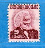 (Us2) USA °-1967-68 - Américains Célèbres- FREDERICK DOUGLASS.  Yvert . 823.   .  USED.  Vedi Descrizione - Stati Uniti