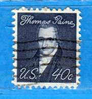 (Us2) USA °-1967-68 - Américains Célèbres- THOMAS PAINE.  Yvert . 824.   .  USED.  Vedi Descrizione - Stati Uniti