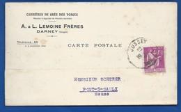 Carte à Entête D'Entreprise    Carrière De Grès Des Vosges   A.L LEMOINE Frères   Darney      écrite En 1936 - Darney