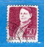 (Us2) USA °-1967-68 - Américains Célèbres- LUCY STONE.  Yvert . 824A.   .  USED.  Vedi Descrizione - Stati Uniti